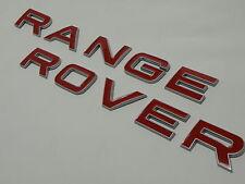 Range rover sport font bord relevé argent lèvre rouge arrière tailgate badge coffre