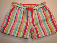 New With Tags Gymboree Ice Cream Sweetie Cuffed Striped Shorts Girl's Sz 5