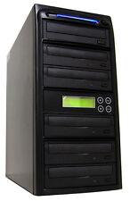 5 Burner 24X CD DVD Disc Duplicator Copier Multiple Media Burn Drive Machine