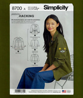 Misses Jacket Sewing Pattern~Hacking Variations! (Sizes XS-XL) Simplicity 8700