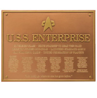 U.S.S. Enterprise NCC-1701-E Star Trek Plakette Dedication Plaque Replica - Neue