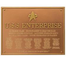 U.S.S. Enterprise NCC-1701-E Star Trek Plakette Dedication Plaque Replica - Neu