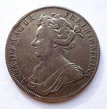 More details for 1702 coronation of queen anne silver medal/medallion ( eimer 390 ) f/vf