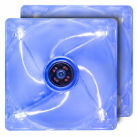 Rosewill 120mm Computer Case Fans (2-PACK), 4 Blue LED Lights, ROCF-13002