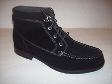 New SEBAGO WANDER women's black suede leather lace-up ankle boots Sz 10-10.5M