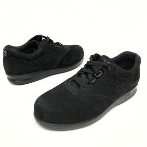 ✅❤️✅$ SAS Free Time Women's $180 Comfort Shoes Size 7.5M Black Suede Work Nurse