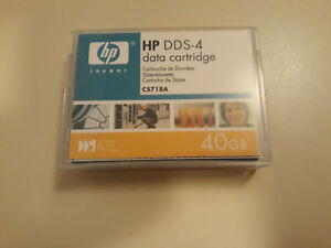 1 HP DDS-4 Données Cartouche Bande - 40GB - C5718A