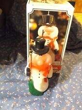 """Christmas Candle Made in Candleland Holiday Snowman About 6"""" High"""