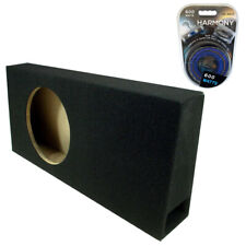 "Car Audio Truck Single 10"" Vented Port Subwoofer Enclosure Mdf Sub Box Amp Kit"