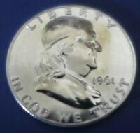1961 Franklin Half Dollar Gem Proof Light Toning      F 14