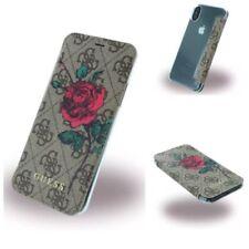 Original Guess 4G PU Flower Desire Book Cover Case Etui Schutzhülle Für iPhone X