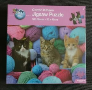 🐈 COTTON KITTENS Cats in Yarn 500 Pieces Jigsaw Puzzle NEW & SEALED 🐈
