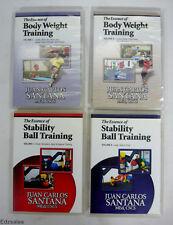 4 DVD - Essence Body Weight Training 1/2 & Ball Training 1/2 by Juan Santana