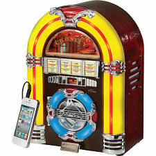 Crosley Tabletop CD Jukebox with AM/FM Radio and Portable Audio Input