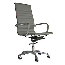 Eames Style High Back Office Chair Grey