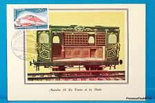 SNCF TGV WAGON 1847 Carte Postale Maximum FDC Yt C 1802