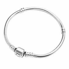 19cm Silver plated Metal snake Charm Bracelet craft supplies jewellery making