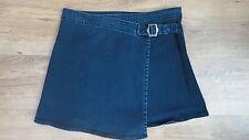 BNWT (£14) Dark Blue Denim Wrapover, Buckle GEORGE Stretch Mini Skirt Size 10