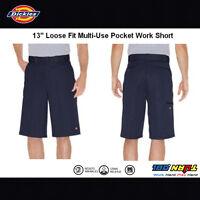 "Dickies Men's 13"" Multi-Pocket Cell Phone Pocket Loose Fit Work Shorts 42283"