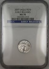 2007 $10 Dollar American Platinum Eagle 1/10oz NGC MS-70 *PERFECT Coin*