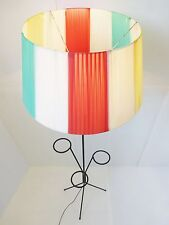 GRAND LAMPADAIRE PORTE-PLANTES VINTAGE 50's ROCKABILLY 50S FLOOR LAMP GUARICHE