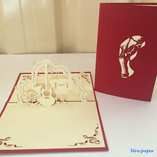 all occasions 3D card gift greeting thanks wedding birthday pop up musical