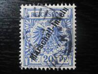 MARSHALL-INSELN GERMAN COLONY Mi. #4II scarce used stamp! CV $85.00