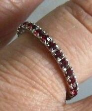 BAGUE ALLIANCE PIERRE DE VERRE DIAMANT RUBIS T 50*4316