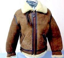 "Mens Avirex US Army B3 Aviator Flying Jacket Small 38"" Brown Grade A T822"