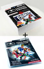 100 COMIC BACKING BOARDS SILVER 178 x 266 mm Poids 400g/m2  + 100 pochettes