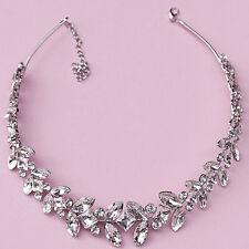Lux Vintage Sparkle leaves Wedding Party  Rhinestone  Headband Bridal Hairpiece