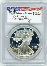 1997-P $1 Proof Silver Eagle PCGS PR70 Ed Moy Signed Red White and Blue Label