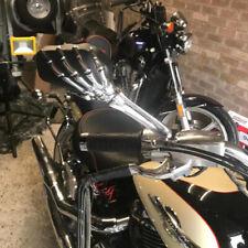 Motorcycle Skull Skeleton Hand Mirrors For Harley Davidson Street Glide Rocker C