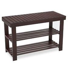 Songmics 3-Tier Bamboo Shoe Rack Bench, Shoe Organizer,Storage Shelf Holds Up to
