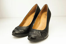 "Sofft 6 Black Leather Pumps Women's Shoe 2 5/8"" Heel"