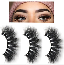 5 Pairs 3D Mink Hair False Eyelashes Thick Long Lashes Wispy Fluffy Eye Lashes