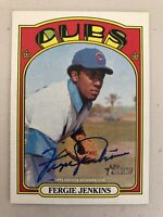 Fergie Jenkins 2021 Topps Heritage REAL ONE ON-CARD AUTO Chicago Cubs HOF SP