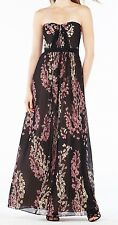 New with tag &368 BCBG Max Azria Amber Strapless Floral B763 Sz 4