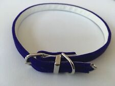 NEW Gorgeous PURPLE VELVET COLLAR size Small 33 - 37cm Dog / Puppy Leather Lined