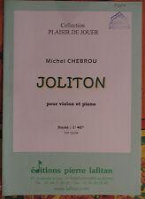 """partition pour violon et piano """"Joliton"""" de michel Chebrou"""