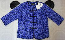 Bob Mackie Cheetah Printed 100% Silk Dupioni Shirt Jacket - BRAND NEW with TAGS