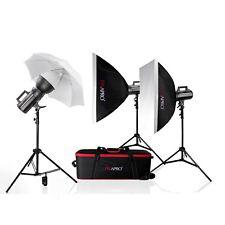 Hogar Estudio Flash Kit Estroboscópica Escuela Retrato 600Ws Foto Iluminación De