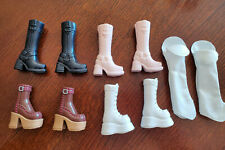 BARBIE DOLL FASHION FEVER - 4 - CHUNKY BOOTS ONLY EACH DIFFERENT - UNIQUE