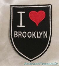 Embroidered Retro Vintage Style I Love Brooklyn New York NY State Patch Iron On