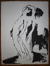 Robert-Louis Nicoïdski Lithographie originale signée Polonais Suisse Abstraction