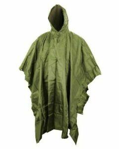 British Army Nylon Waterproof Olive green Poncho / Shelter Various Grades #3751