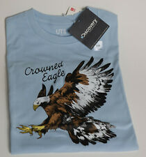 NEW Uniqlo + Discovery Channel Collab Kids T-shirt Size 7-8 Crowned Eagle