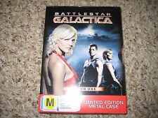 Battlestar Galactica Season 1 L.E. Metal Slip DVD's Region 2,4 Australia Sealed!