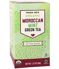 Trader Joe's Organic Moroccan Mint Green Tea with Lemongrass, 20 Tea Bags
