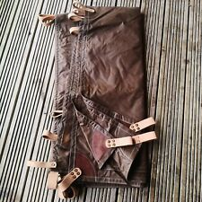 3x3 tarp waxed canvas leather bushcraft glamping made in the UK